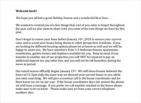 Sample Welcome Letter Hotel Welcome Letter Format Resort Welcome