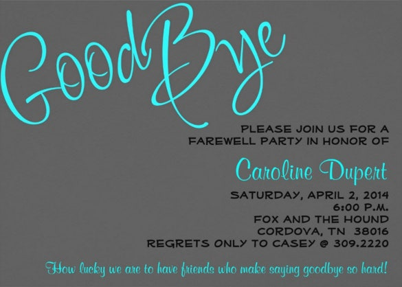 Farewell Party Invitation Template 25 Free Psd Format Download