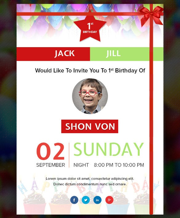 birthday email template with image