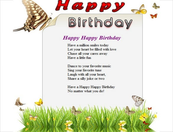 Elegant Birthday Email Template Free Download