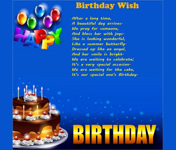 birthday email template for wishes