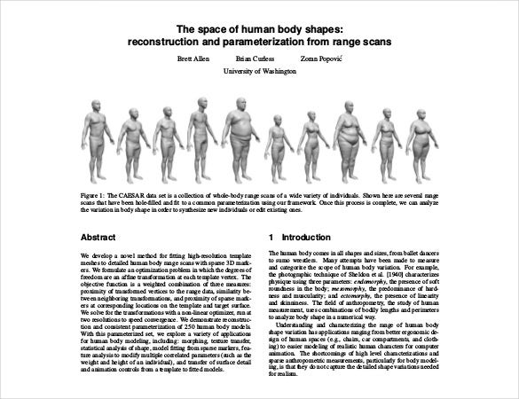 human body shapes template free pdf format