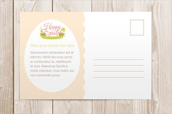 Happy Easter Postcard Sample Template Download