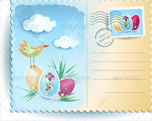 vector eps format easter postcard template