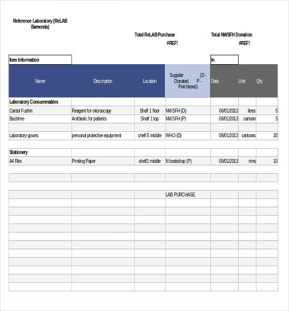 inventory checklist template excel downloads