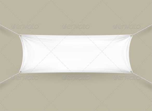 rectangular blank banner template