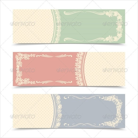decorative blank banner template