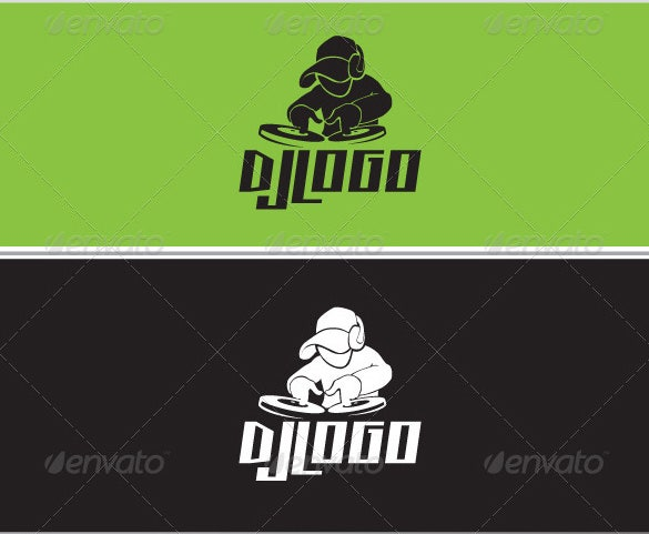 dj logo template eps format download