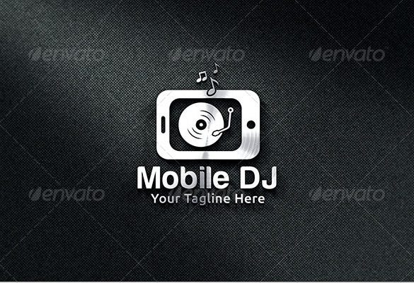 mobile dj logo template illustrator format