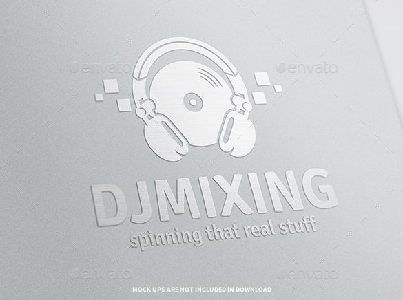 dj mixing logo template ai download