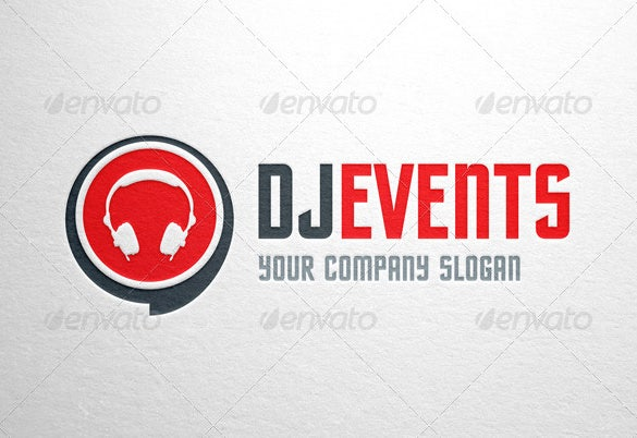 dj events logo template ai design download