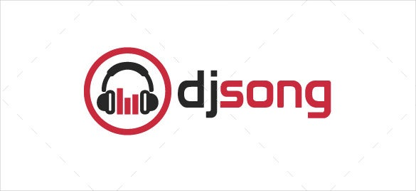 dj song logo template psd format download