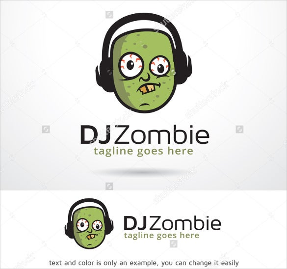 dj zombie logo template design vector download