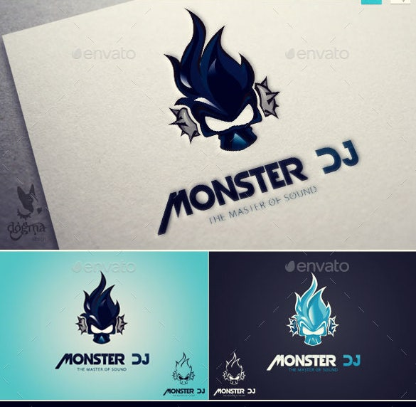 music logo template monster dj psd download
