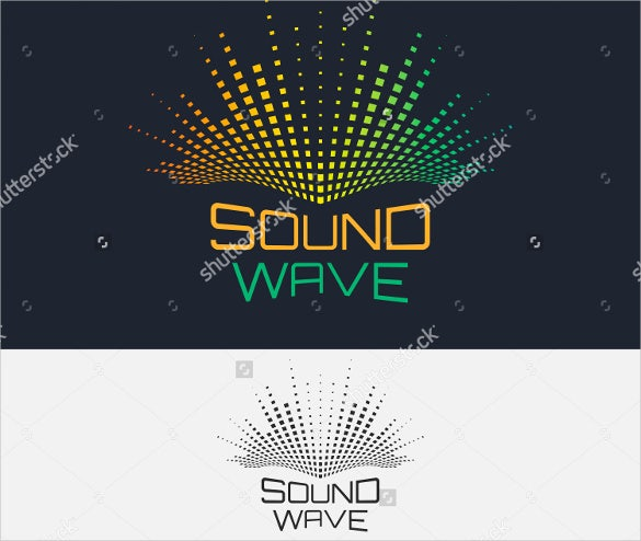 sound wave equalizer dj logo design template