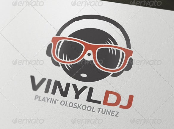 vinyl dj logo eps premium download