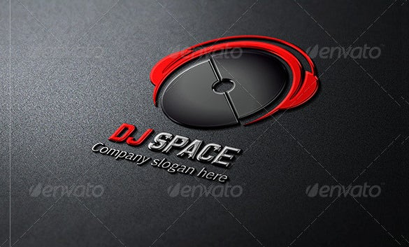 dj space logo template psd format download