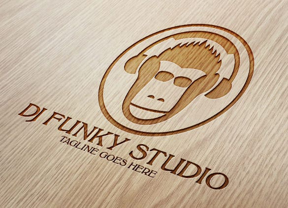 download monkey dj music studio logo