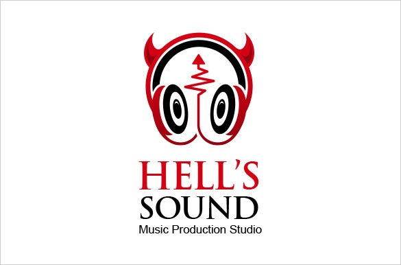 premium hell sound dj template download logo