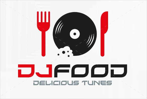 dj food logo template eps format download