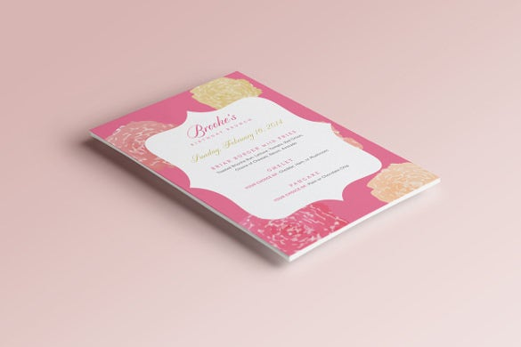 rich look birthday menu card freedownload