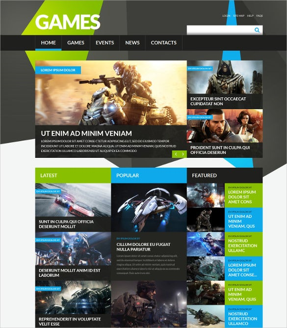 game portal responsive joomla gaming template