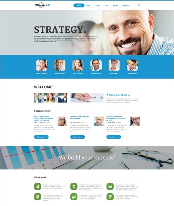 corporate business responsive joomla template