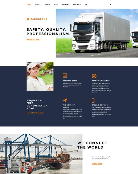 cargoland business joomla template