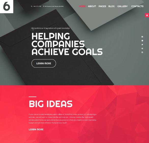 modern advertising agency joomla template