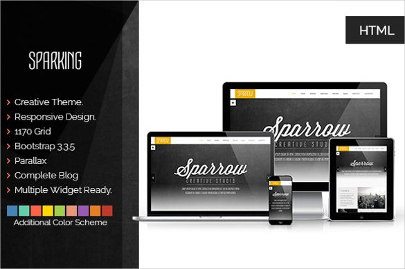 sparking creative landing template