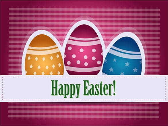 pink colour example easter greeting card