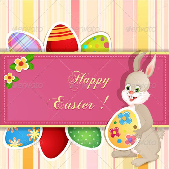 format of a easter greeting card