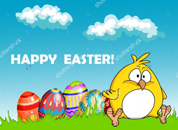 happy easter sample greeting card