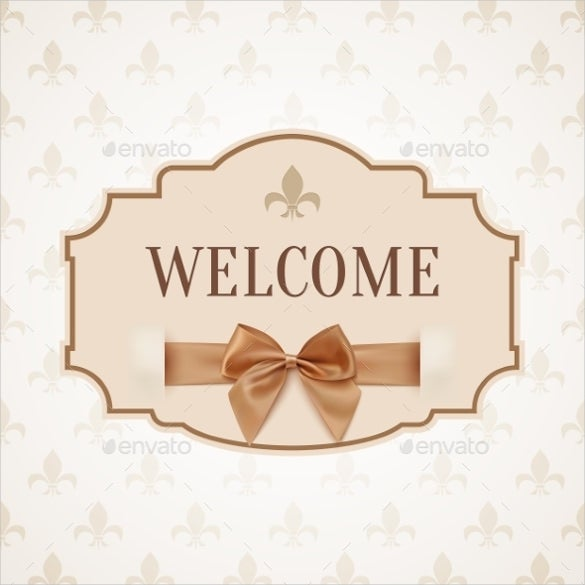 shine welcome banner template
