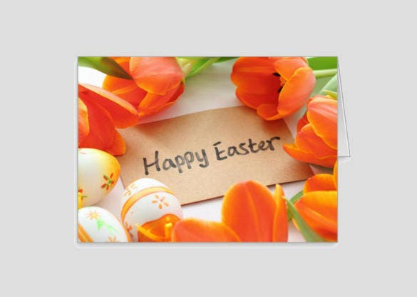 format of easter greeting card template