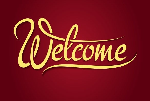 decoration welcome banner template