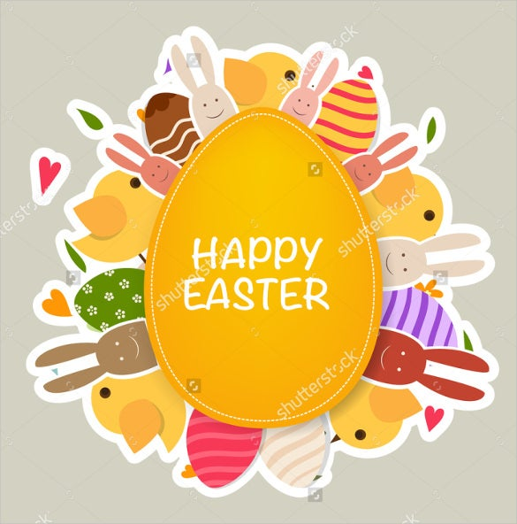 yellow colour example easter greeting card