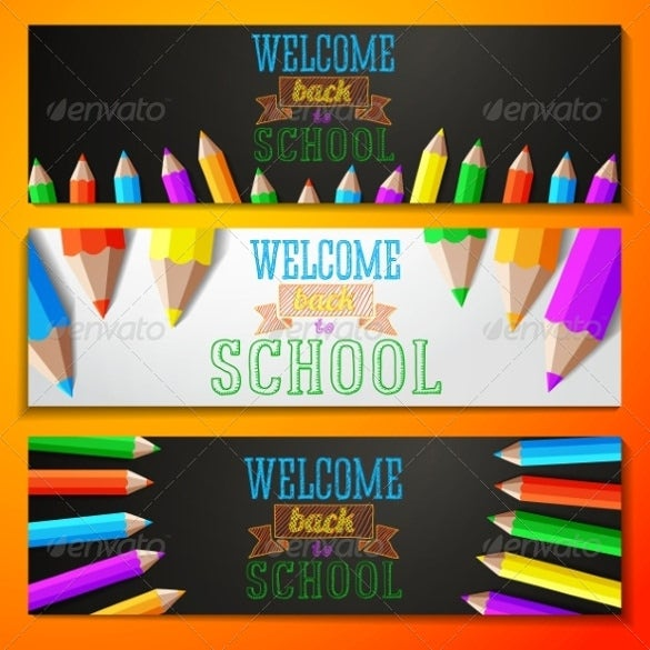 school welcome banner template