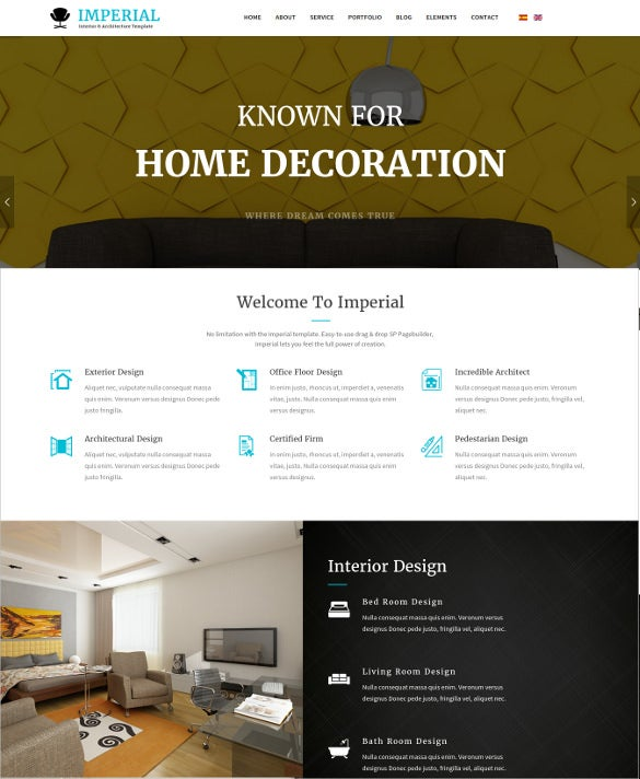 interior architecture business joomla template1