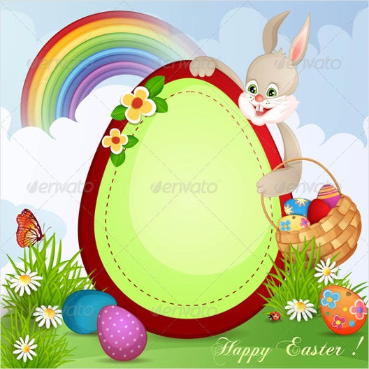 sample eps easter greeting card download