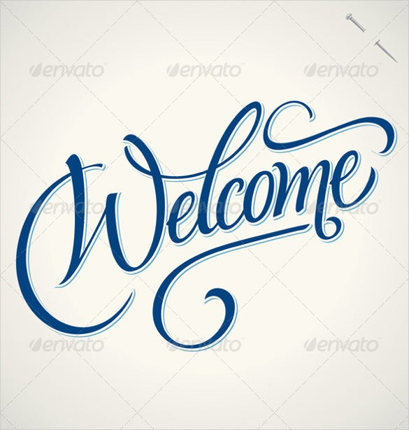 classic welcome banner template