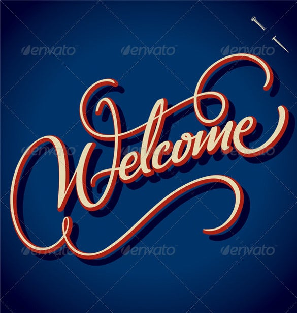 vintage welcome banner template