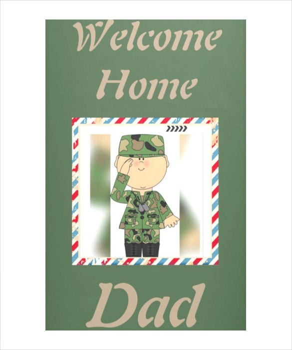 military welcome banner template