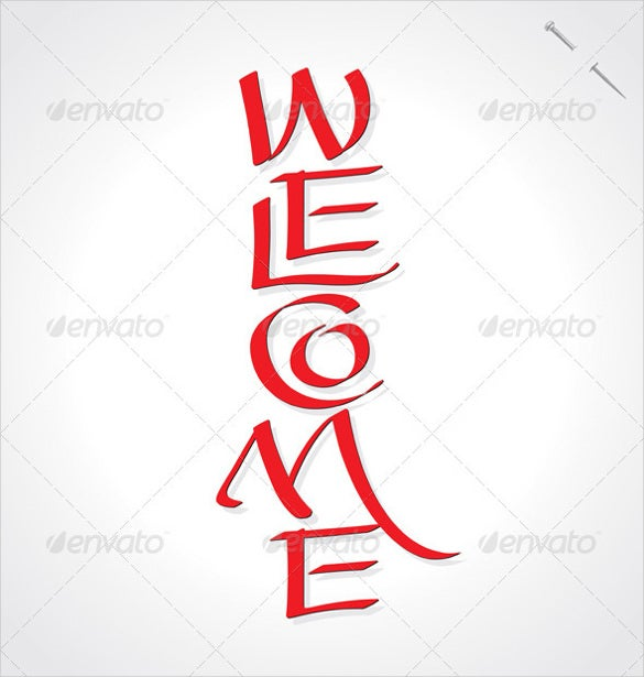 decorative welcome banner template