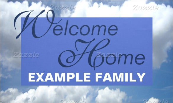 welcome home banner template