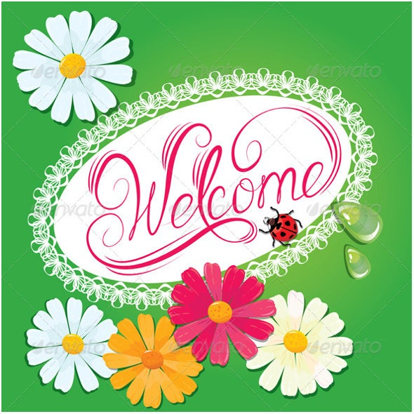 nature welcome banner template