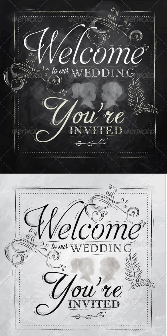 wedding welcome banner template