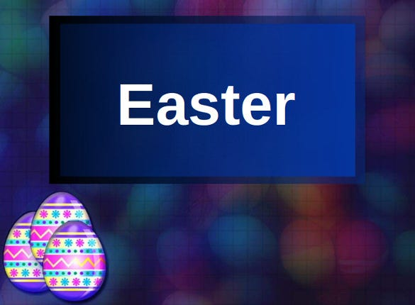 easter powerpoint in blue clolour download