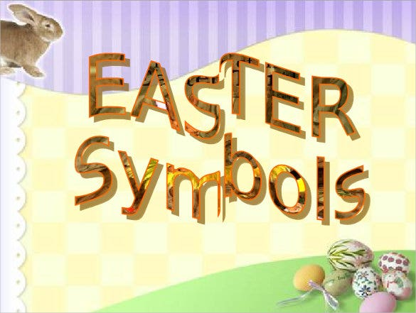 Easter Symbols PPT Format Free Download