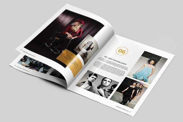 fashion magazine brochure template